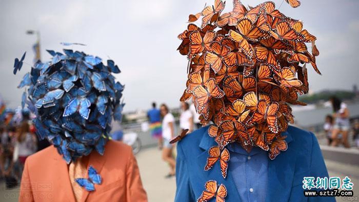 德国科隆数万人庆祝同性婚姻合法化
